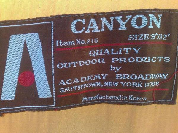 Information on this tent
