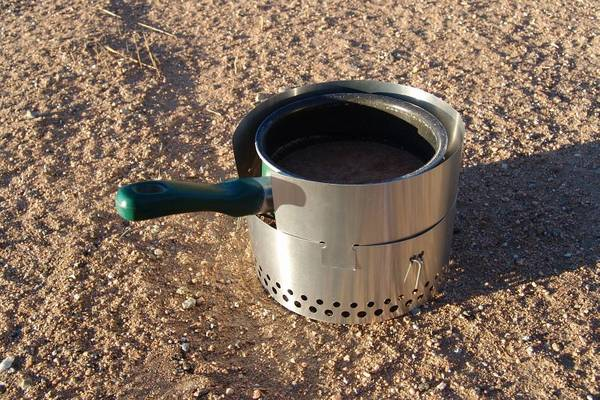 cooking on alcohol stove