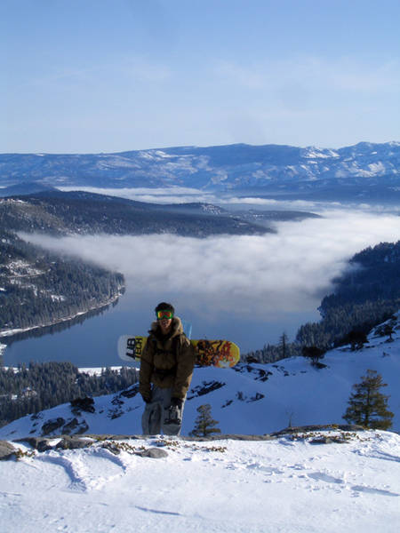 Amado in front of Donner lake