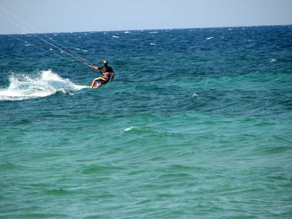 kite boarder on the adriatic