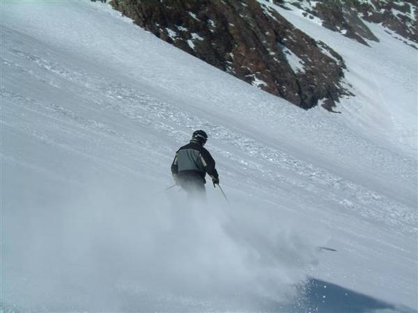 Dennis kicking up snow