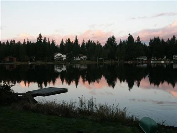 Twilight on water