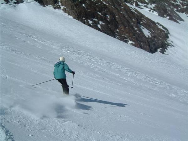 Vicki going downhill